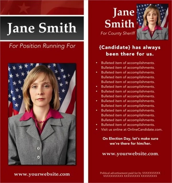 14+ Political Brochure Templates - Free PSD, AI, EPS Format - campaign flyer template