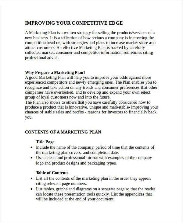 Advertising Plan Template - 7+ Free Word, Excel, PDF Document