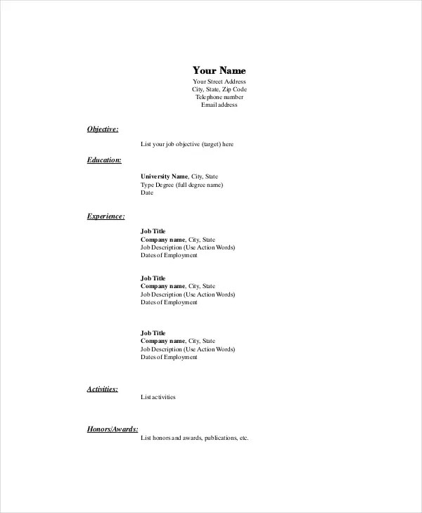 Marketing Resume Template \u2013 10+ Free Word, PDF Documents Download - resume templates word 2003