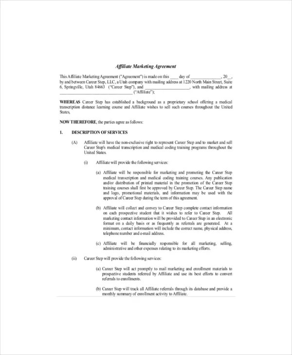 Advertising Sales Contract Template Free - advertising contract agreement