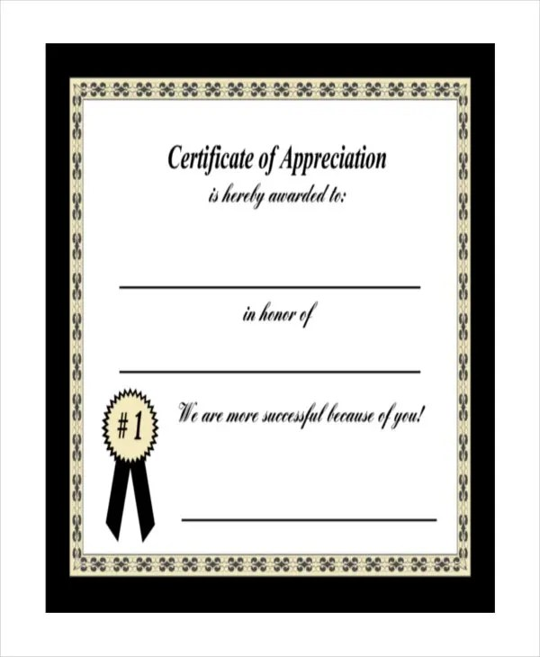 27+ Certificate of Appreciation Templates - PDF, DOC Free - Sample Certificate Of Appreciation