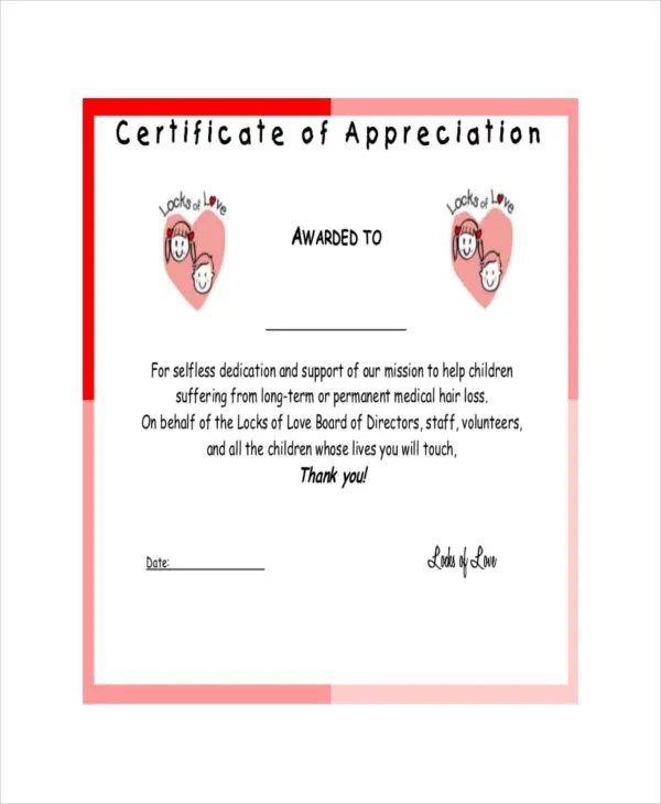 27+ Certificate of Appreciation Templates - PDF, DOC Free - Certificate Of Appreciation Words