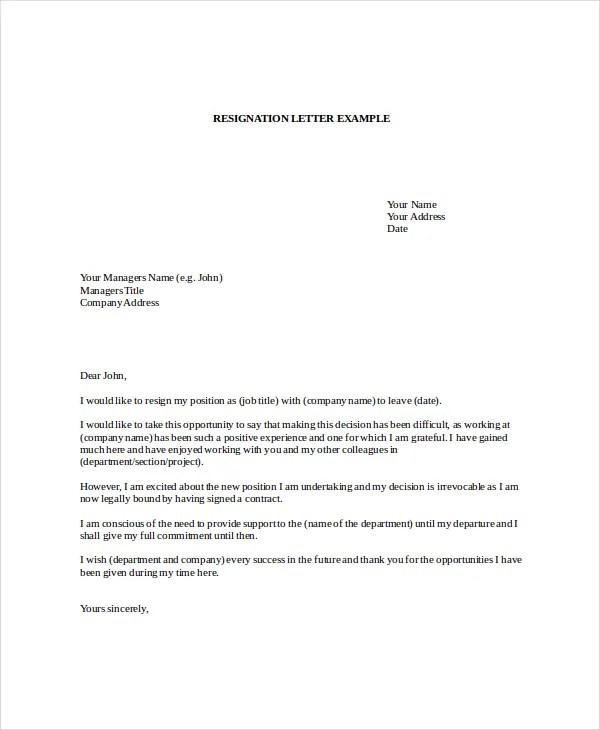 Letter of Resignation Template - 16+ Free Word, PDF Document - free letter of resignation template