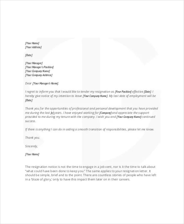 write a business letter template