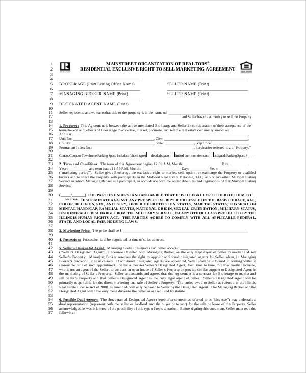 20+ Marketing Agreement Template \u2013 Free Sample, Example, Format