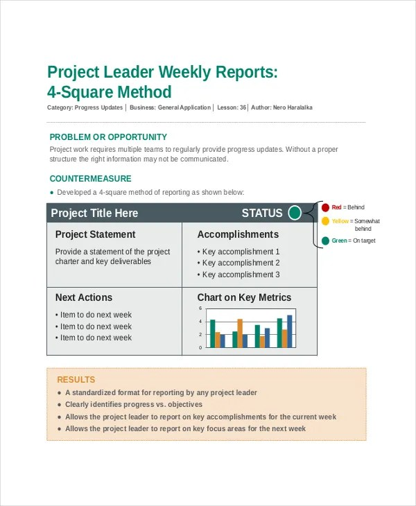 Sample Project Report Project Report Template 8+ Project Report - project report format