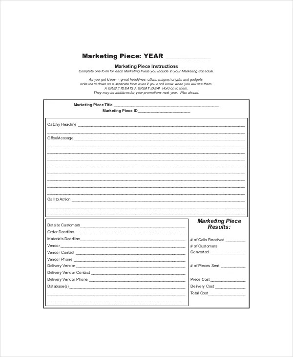 7+ Marketing Schedule Templates \u2013 Free Sample, Example, Format