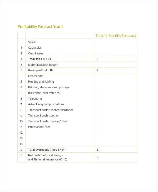 8+ Financial Projections Templates - Free Sample , Example , Format