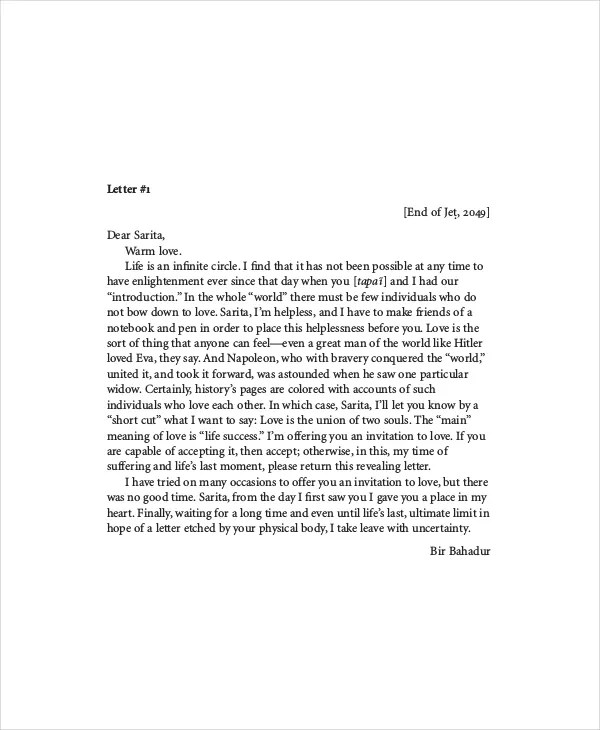 Goodbye Letter Template - 5 + Free PDF Documents Download Free