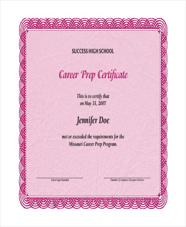 24+ Sample Printable Certificate Templates - Free Sample, Example