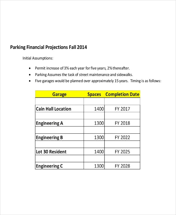 8+ Financial Projection Templates - Free Word, PDF Documents - financial projections template