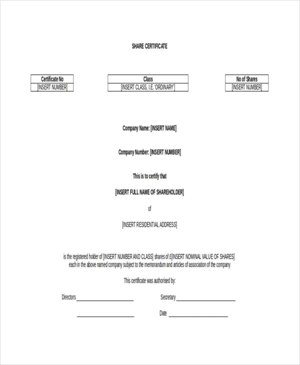 Printable Certificate Template - 21+ Free Word, PDF Documents