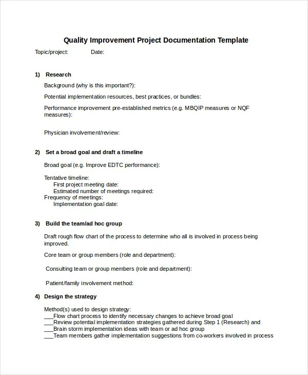 Project Documentation Templates - 6+ Free Word,PDF Documents