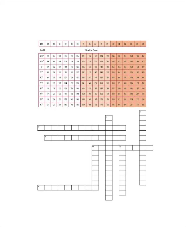 Body Fat Percentage Chart - 7+ Free Word, Excel, PDF Documents