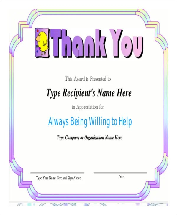 Certificate of Appreciation Template - 24+ Free Word, PDF, PSD