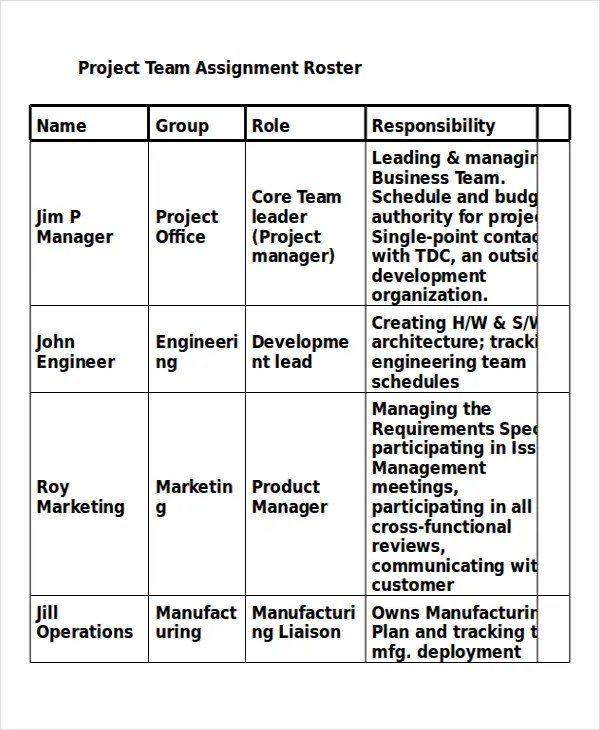 Project Assignment Template - 4+ Free Word, PDF Documents Download - assignment template word