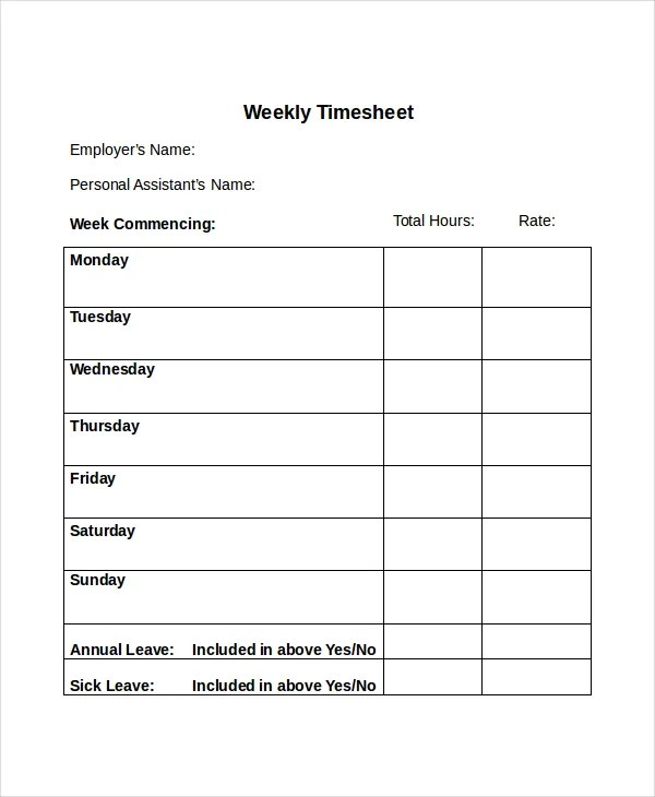 daily time sheet template datariouruguay - blank time card template