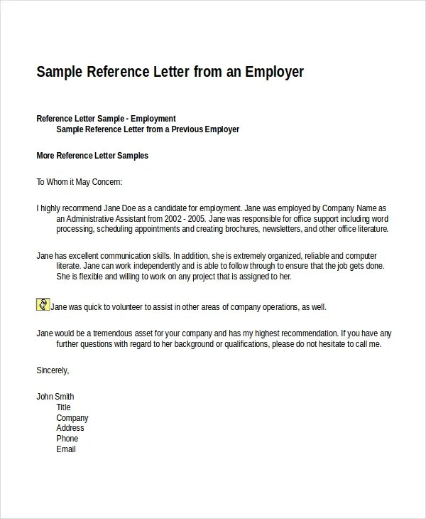 12+ Reference Letter Templates - Free Sample, Example, Format - letters of reference template