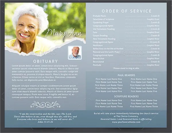 20+ Memorial Program Templates - Free PSD, AI, EPS Format Download - memorial program