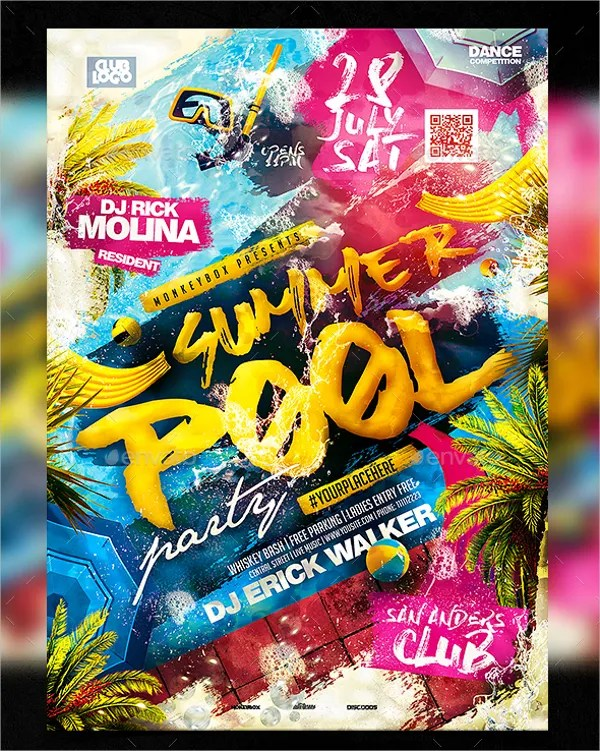 21+ Pool Party Flyers - Free PSD, AI, EPS Format Download Free
