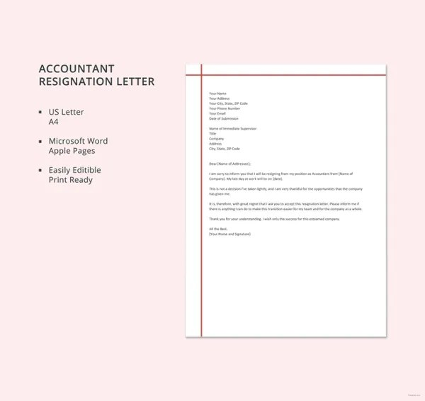 Letter of Resignation Template - 17+ Free Word, PDF Document