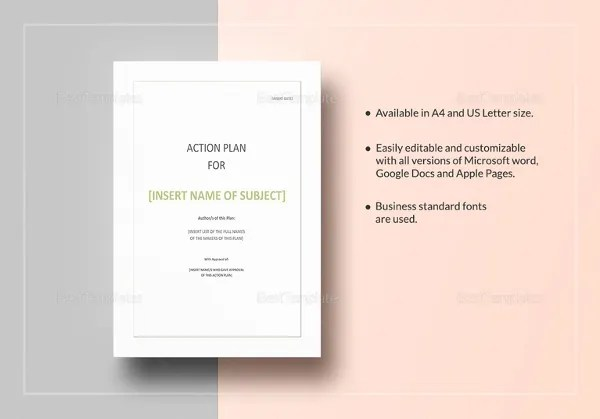 Action Plan Template - 14+ Free Word, PDF Document Downloads Free