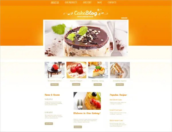 Wordpress Free Page Builder 24 Cake Website Themes Templates Free Premium Templates