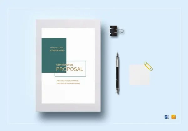 Contractor Proposal Template - 13+ Free Word, Document Downloads - contractor proposal template word