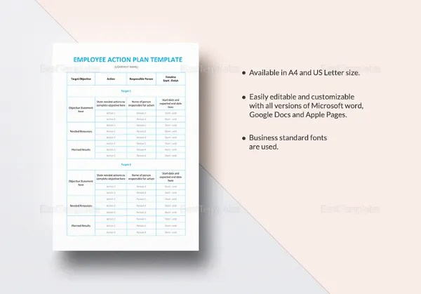 Employee Action Plan Template - 12+ Free Word, Excel, PDF Format