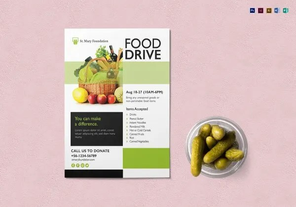 17+ Food Drive Flyer Templates - PSD, AI, Word Free  Premium