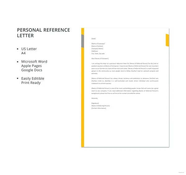 10+ Sample Business Reference Letter Templates - PDF, DOC Free
