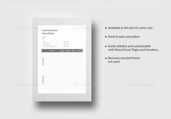 Score Sheet Templates - 24+ Free Word, Excel, PDF Document Download