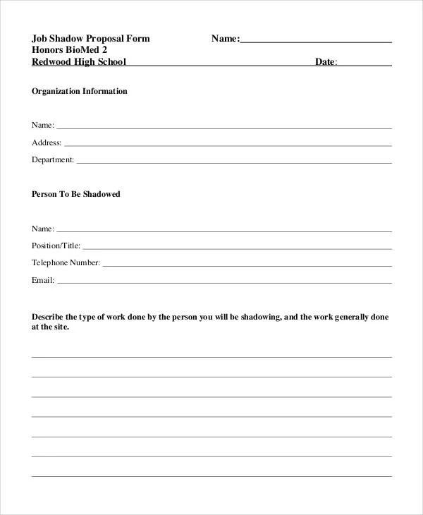 free job proposal forms - Ozilalmanoof - proposal form template