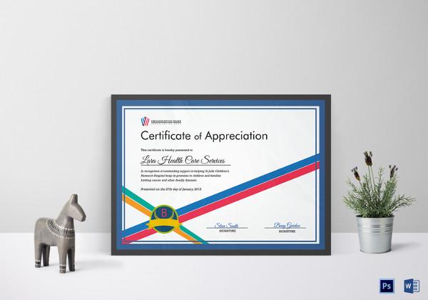27+ Certificate of Appreciation Templates - PDF, DOC Free - certificate of appreciation template