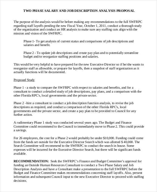 job proposal samples template - Pinarkubkireklamowe