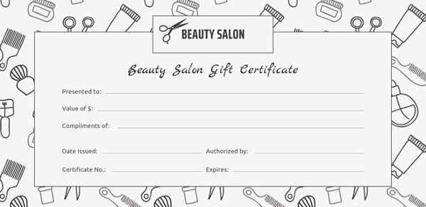Salon Gift Certificate Template - 9+ Free PDF, PSD, AI, Vector
