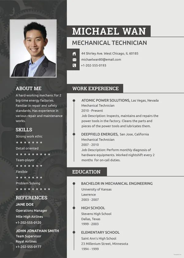 simple software engineer resume format