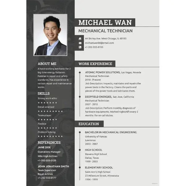 10+ Engineering Resume Templates - PDF, DOC Free  Premium Templates - resume templates engineering