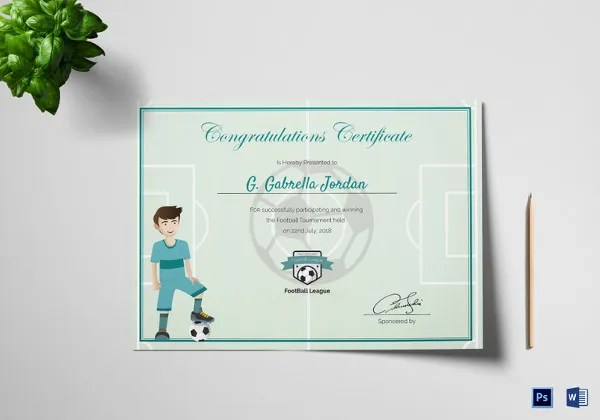 14+ Congratulations Certificate Templates - Free Sample, Example - congratulations certificate