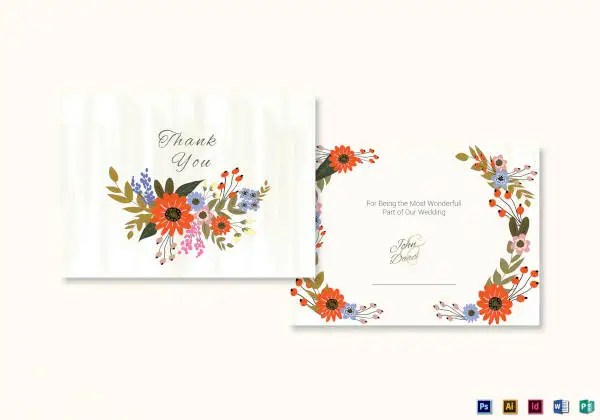 34+ Free Thank You Card Templates - PSD, AI, Vector EPS Free