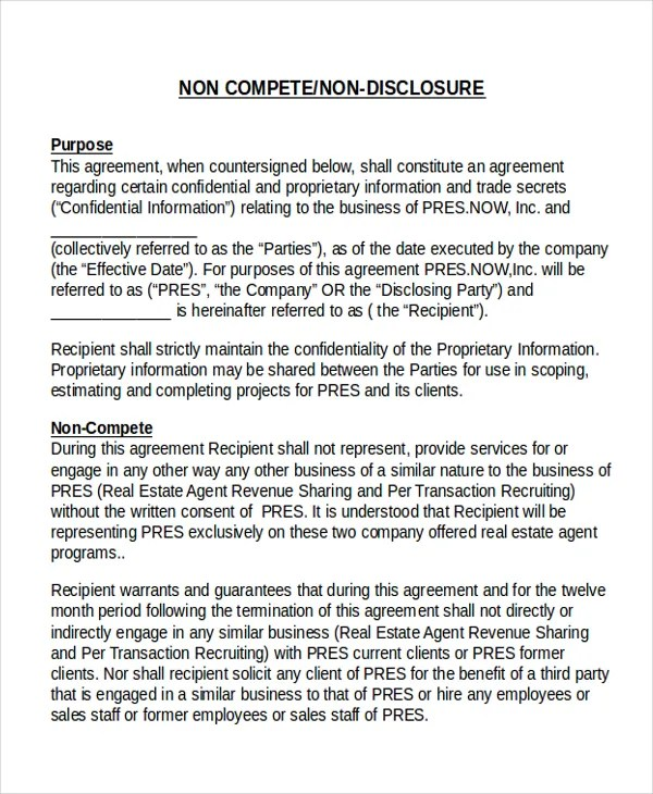 Profit Sharing Agreement Template Employee NonDisclosure Agreement