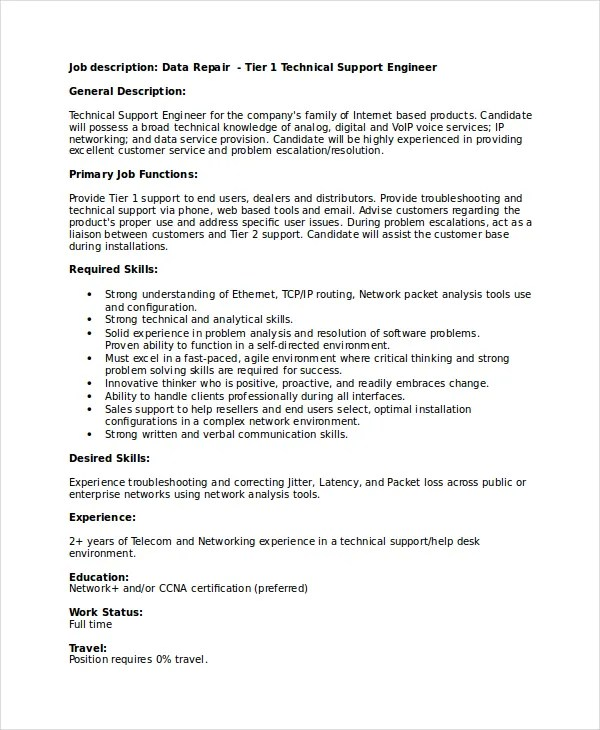 Technical Resume Template - 6+ Free Word, PDF Document Downloads