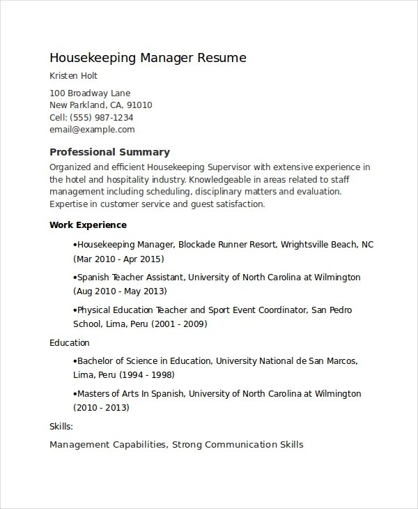 Retail Resume Skills Sample Template