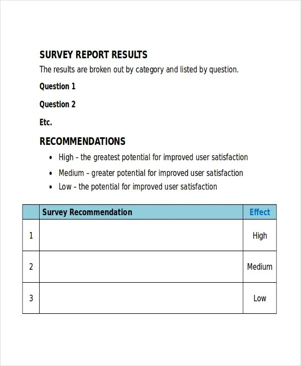 32+ Survey Template - Free Sample, Example, Format Free  Premium - ms word survey template