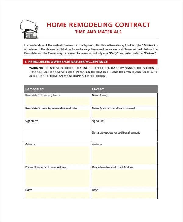 28+ Contract Templates - Free Sample, Example, Format Free - free contract templates