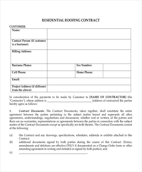 28+ Contract Templates - Free Sample, Example, Format Free - contract amendment template