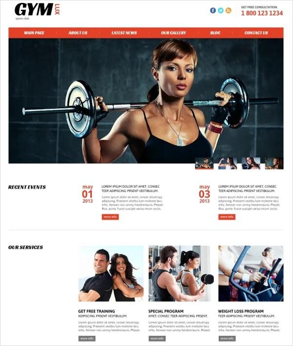 20+ Fitness Joomla Themes  Templates Free  Premium Templates - Fitness Templates Free