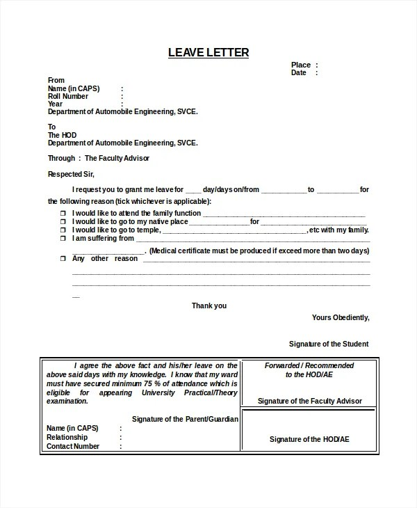 leave template - Ozilalmanoof - Casual Leave Application