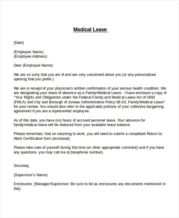 20+ Leave Letter Templates - PDF, DOC Free  Premium Templates - How To Write An Leave Application