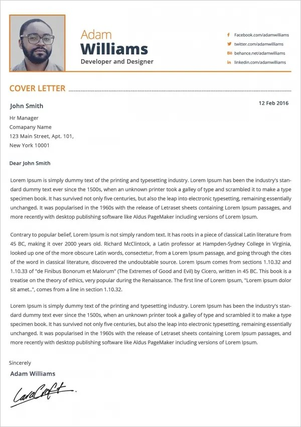 21+ Cover Letter - Free Sample, Example, Format Free  Premium